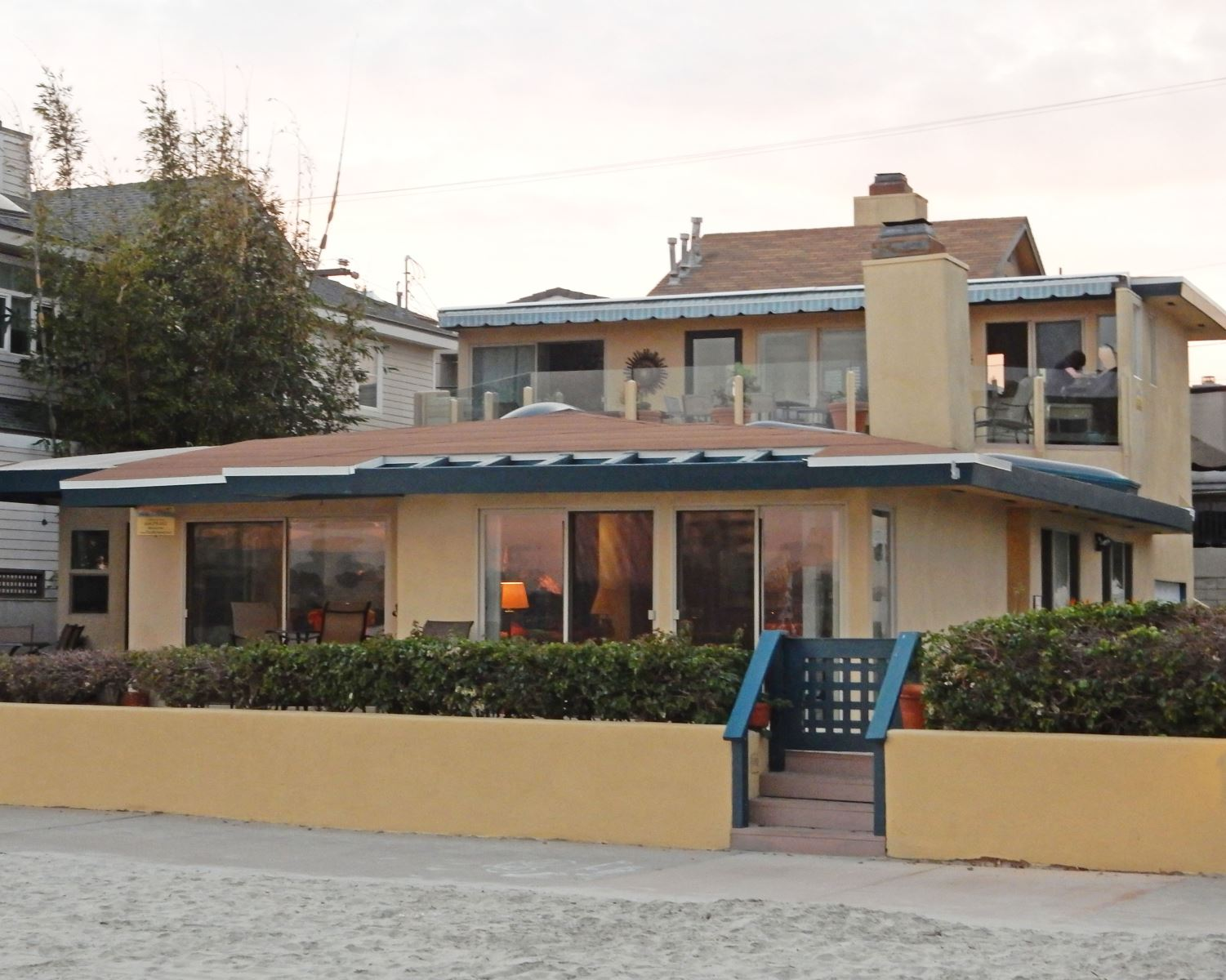 Exterior view - from the beach - The Baybreeze is the bottom floor