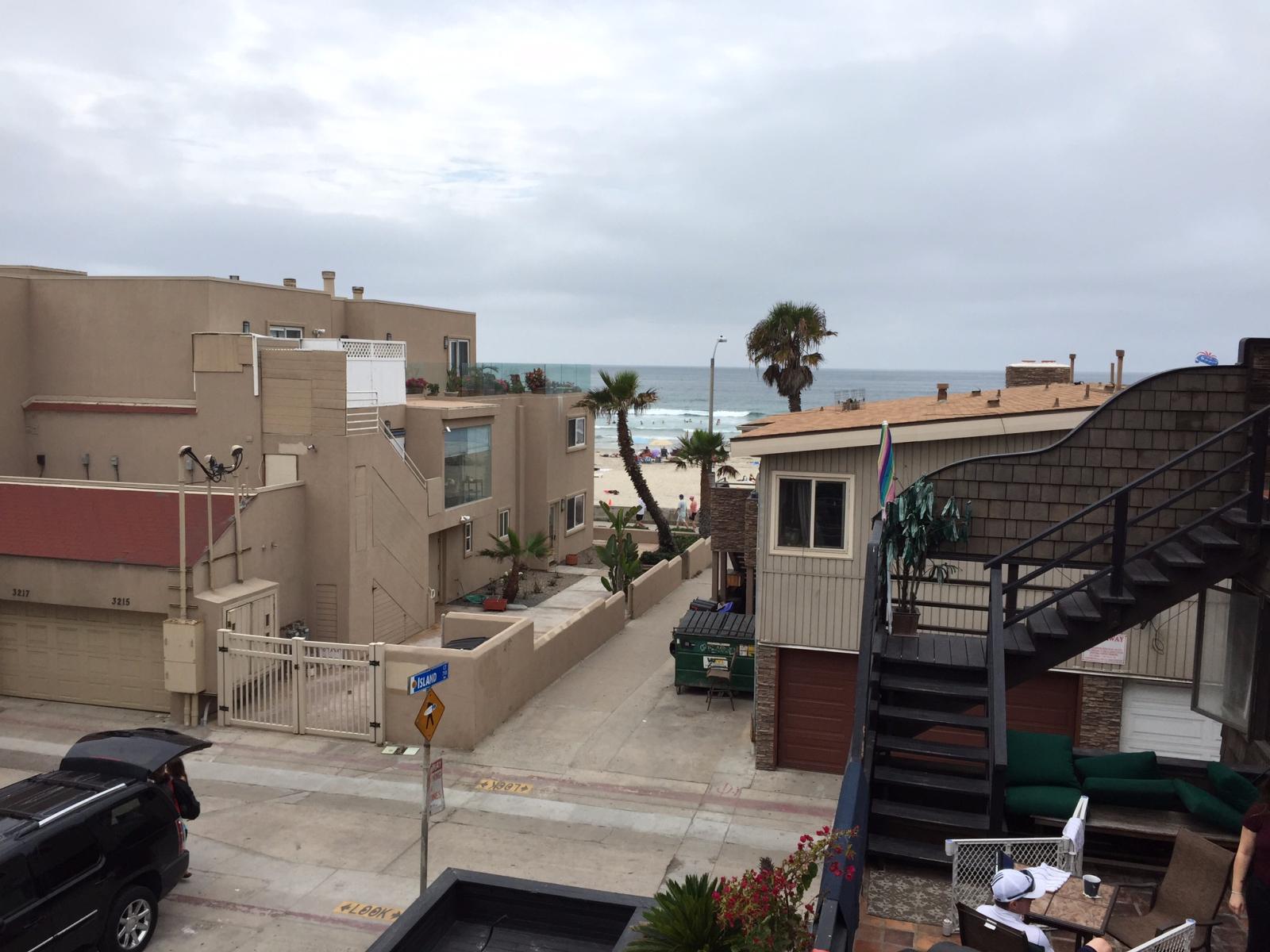 Third floor balcony view